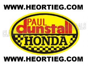Paul Dunstall Honda Tank and Fairing Transfer Decal DDUN5-7